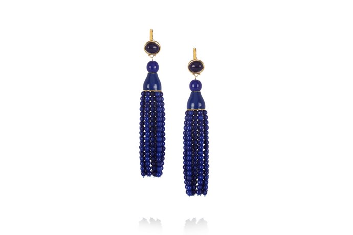 "Earrings, $142, Kenneth Jay Lane, <a href=""http://www.net-a-porter.com"">net-a-porter.com</a>"