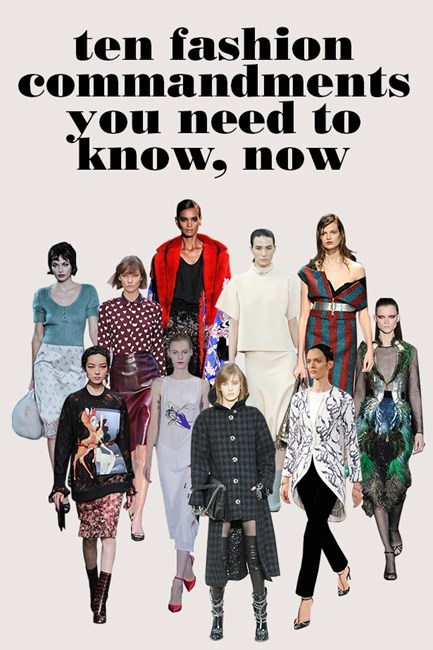 AW13-14 fashion commandments