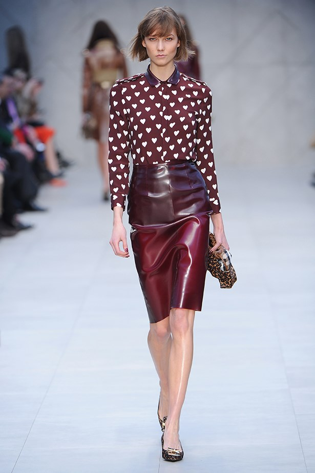 <strong>Thou shalt give a sweet shirt a cheeky twist.</strong> <p>Burberry Prorsum gave not-so-innocent hearts a jump-start with latex, but leather will do the trick.</p>