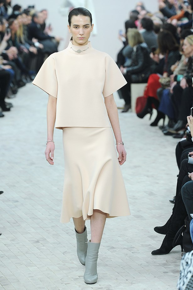 <strong>Thou shalt not overlook the boxy tee.</strong> Céline's paper-doll sleeves herald a new shape up top. Go big.