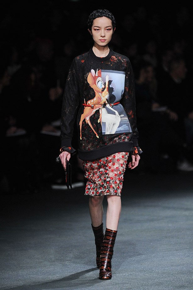 <strong>Thou shalt not ever be too old for Bambi. </strong><p> Givenchy continues to fuel the cult of the character sweater. Mickey Mouse is also acceptable. </p>
