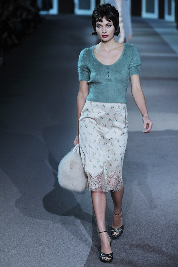 <strong>Thou shalt channel 50s film stars.</strong><p> Boudoir-worthy looks were all over the runways. Reference Louis Vuitton's silk slips and sweaters. </p>