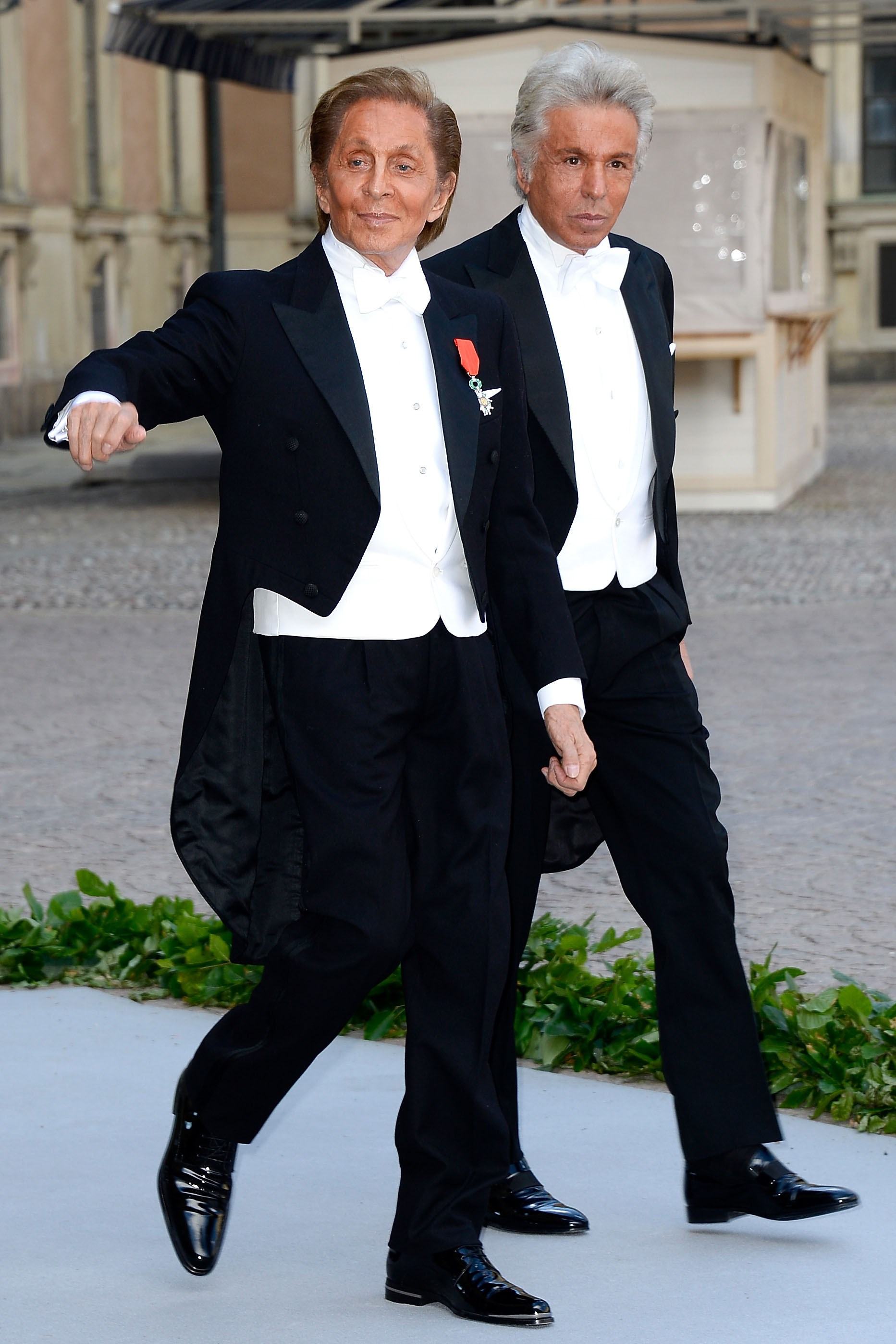<strong>Valentino and Giancarlo</strong> <p>The kings (or should we say emperors) of fashion couples, these two, and their small army of pugs, make us believe in love.</p>