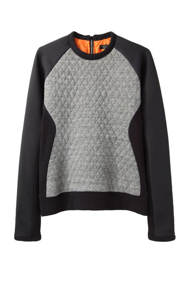 """Sweatshirt, approx. $595, Rag and Bone, <a href=""""http://www.lagarconne.com"""">lagarconne.com</a>"""