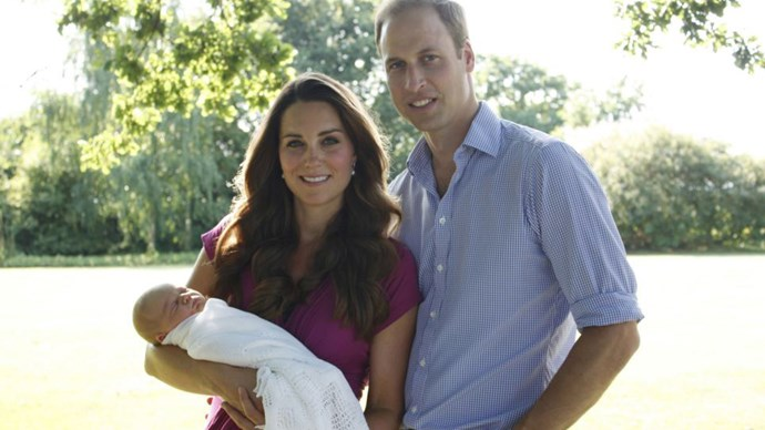 Kate and William with Prince George