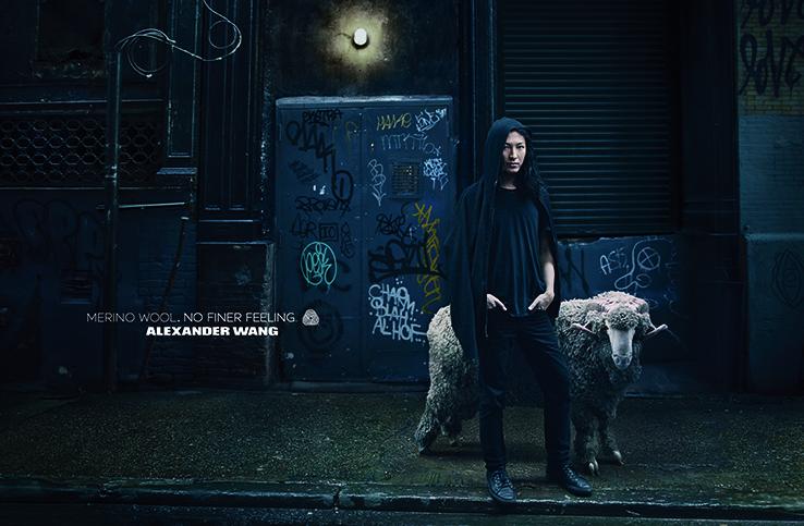 Annie Leibovitz photographs Alexander Wang for Woolmark