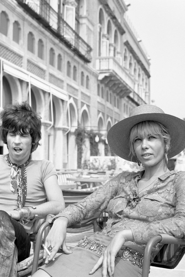 Anita Pallenburg with then-boyfriend Keith Richards – unfortunately, 'the couple that dresses together stays together' didn't pan out for these two.