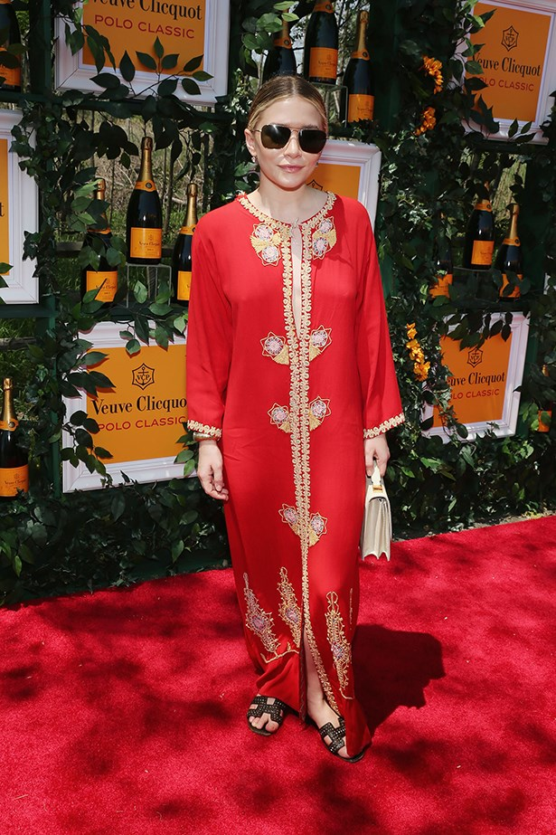 Ashley Olsen, regal in red.