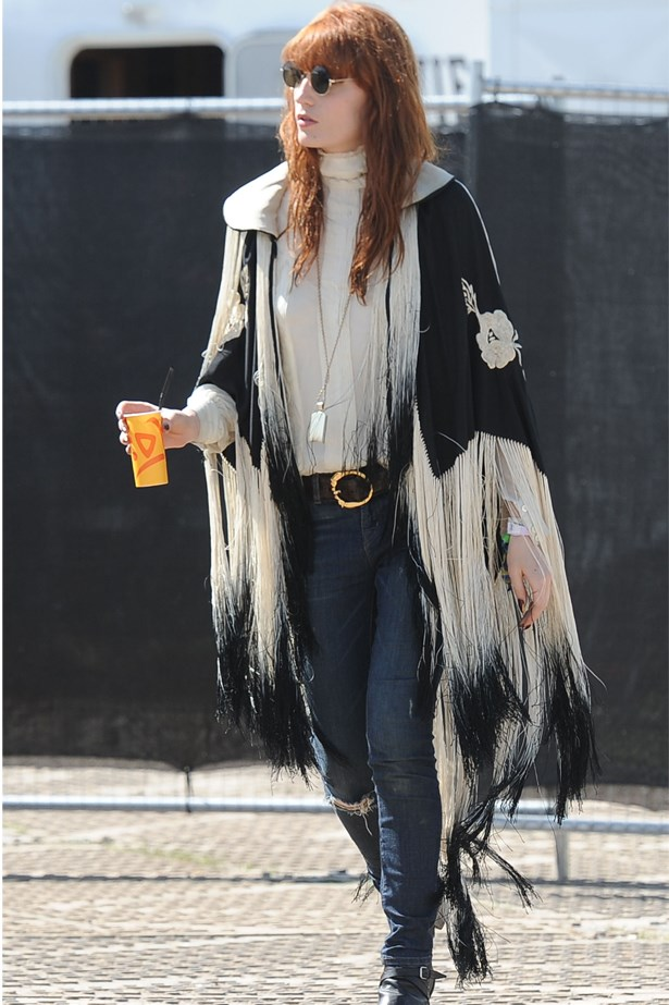 Florence Welch, master of the fringed cape.