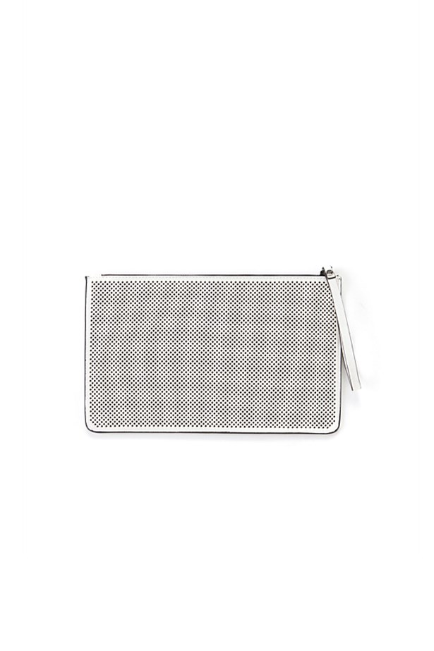 "Perforated purse, $49.95, Country Road, <a href=""http://www.countryroad.com.au"">countryroad.com.au</a>"