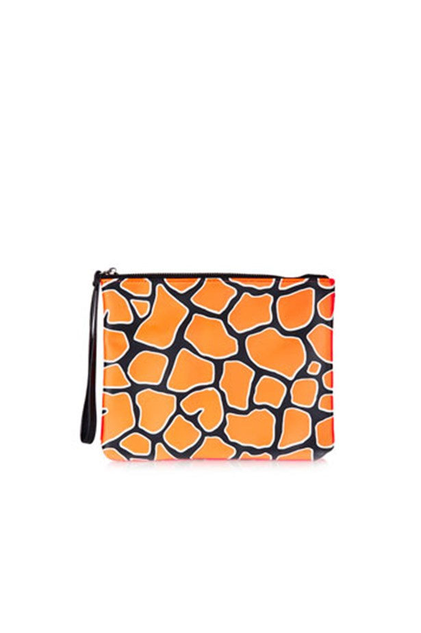 "Orange purse, $21, Topshop, <a href=""http://www.topshop.com"">topshop.com</a>"