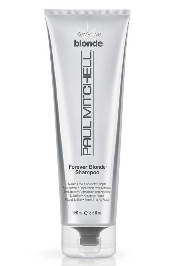 "Forever Blonde Shampoo, $27.95, Paul Mitchell, <a href=""http://paulmitchell.com"">paulmitchell.com</a>"