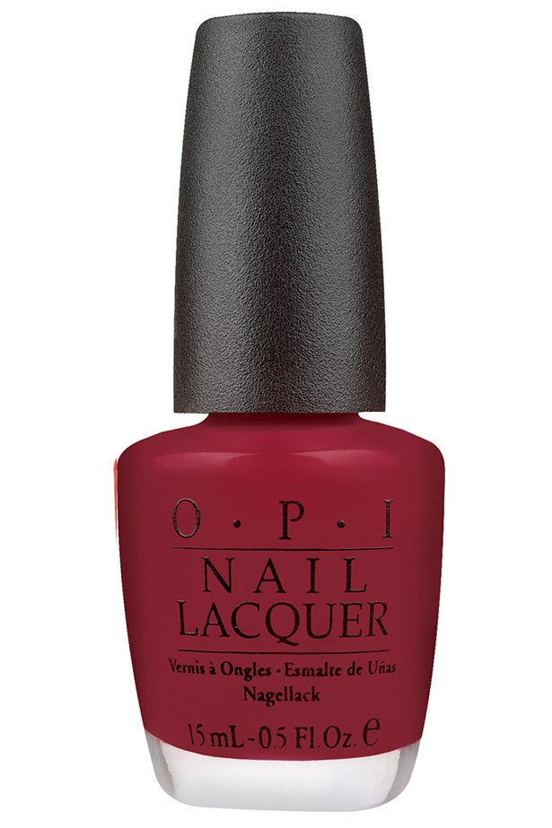 """<p><strong>Vanessa Lawrence, features writer</strong></p> <p>""""It's the perfect balance between a true red and a dark colour.""""</p> <p><em>Nail Lacquer in Got The Blues For Red, $19.95, OPI, <a href=""""http://www.opi.net.au"""">opi.net.au</a></em></p>"""