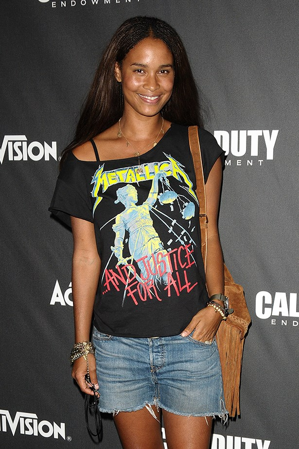 The normally femme Joy Bryant surprises us all with her heavy-metal music tastes.