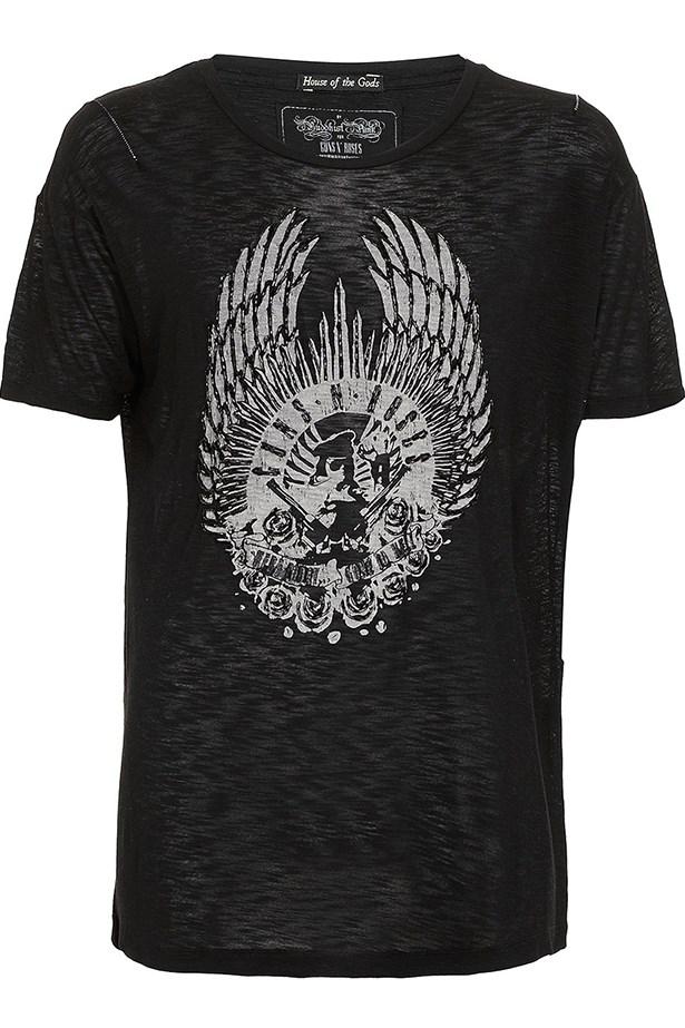 """House Of The Gods T-shirt, approx $65.95, Topman, <a href=""""http://www.topman.com"""">topman.com</a>"""
