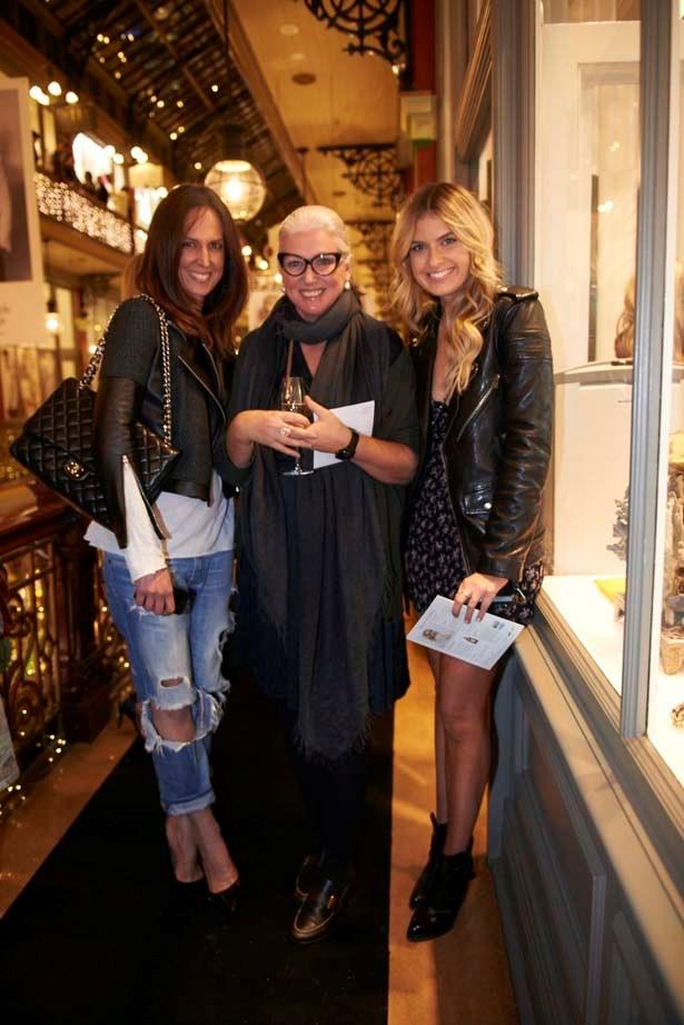 Bloggers Elle Ferguson and Tash Sefton with Belinda Seper, owner of Belinda and The Corner Shop