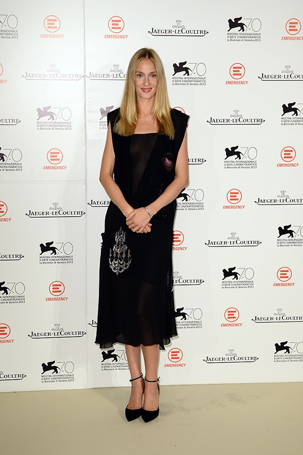 Eva Riccobono wore a Christian Dior AW13 dress with black pointed pumps while hosting the <em>Emergency: Jaeger-LeCoultre In Aid Of The Goderich Centre, Sierra Leone</em> gala dinner.