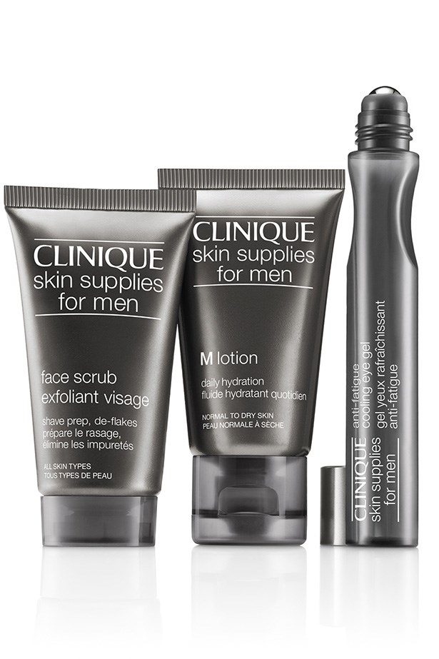 "<strong>Skin Supplies for Men gift set, $52, Clinique, <a href=""http://www.clinique.com.au"">clinique.com.au</a></strong> <em>It's basically a scientific fact that men will only follow a skincare regimen if the products look tough and manly. These Clinque offerings will have dad exfoliating and moisturising like a pro in no time.</em>"