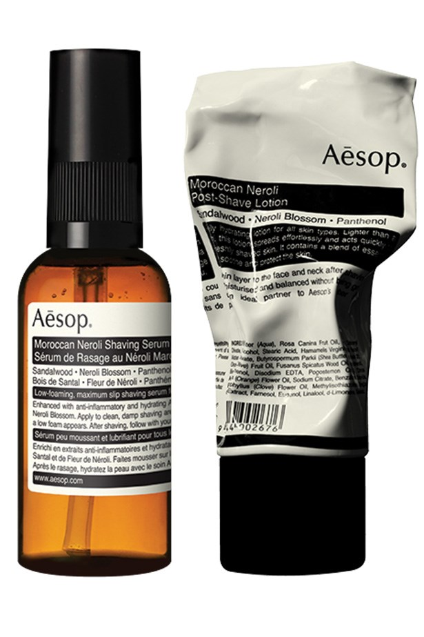 "<strong>Moroccan Neroli Shaving Duet, $80, Aesop, <a href=""http://www.aesop.com.au "">aesop.com.au </a></strong> <em>Update Dad's routine with this luxe shaving serum and calming after shave duo. </em>"