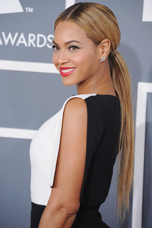 She ditched her signature curls, and chose simple, chic perfection at the Grammys earlier this year.