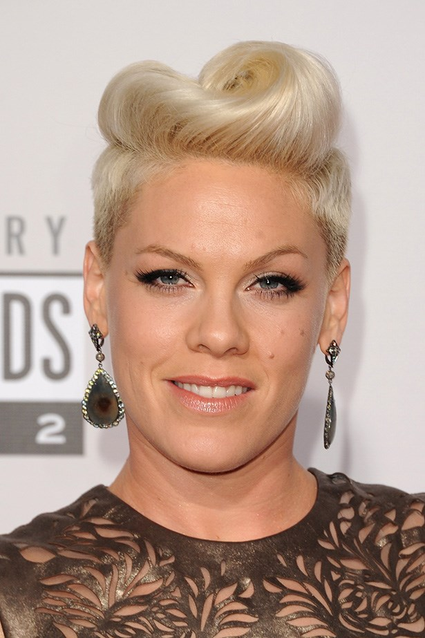 Pink features lashings of mascara with a touch of silver glitter at the 2012 American Music Awards.