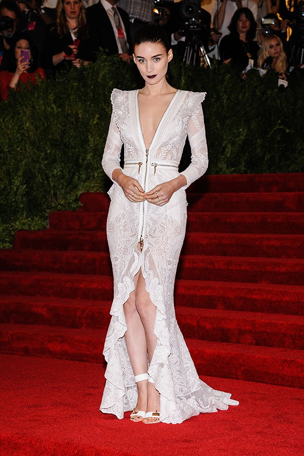 The girl likes Givenchy Couture. Luckily she has designer and co-host of the 2013 New York Met Gala, Riccardo Tisci, on speed dial. This is punk, Mara's way.