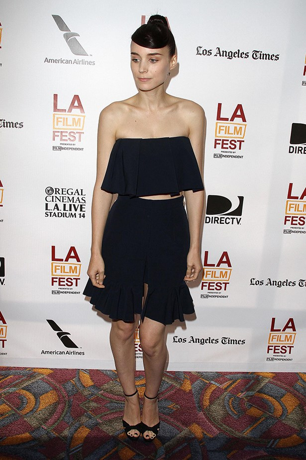 A J.W. Anderson midriff and ruffles set is fun and playful for the LA Film Festival Premiere of <em>Ain't Them Bodies Saints</em>.