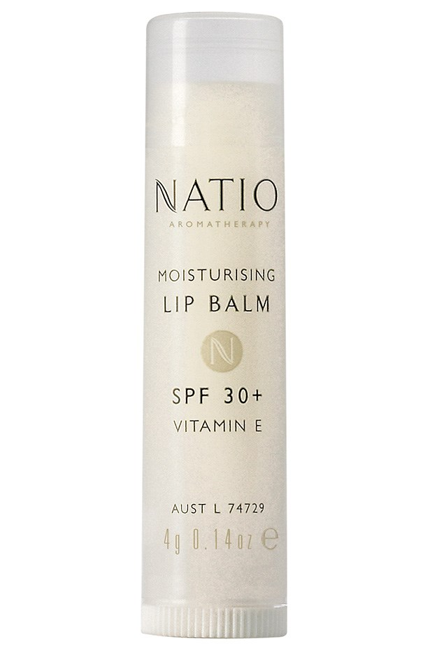 <strong>FOR THE BEACH:</strong> <em>Moisturising Lip Balm SPF 30+, $4.95, Natio, 03 9415 9911</em> Offers top-grade protection without looking like zinc.