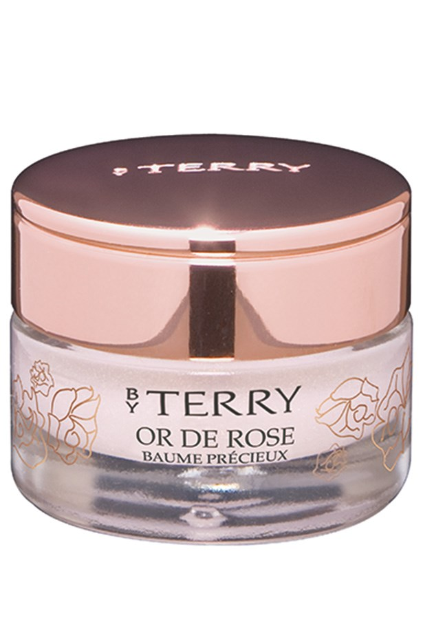 <strong>FOR EVENING: </strong><em>Or De Rose Baume Precieux, $92, By Terry, meccacosmetica.com.au </em> With a heavenly scent and the right amount of shimmer and shine, it's perfect for a clutch purse.