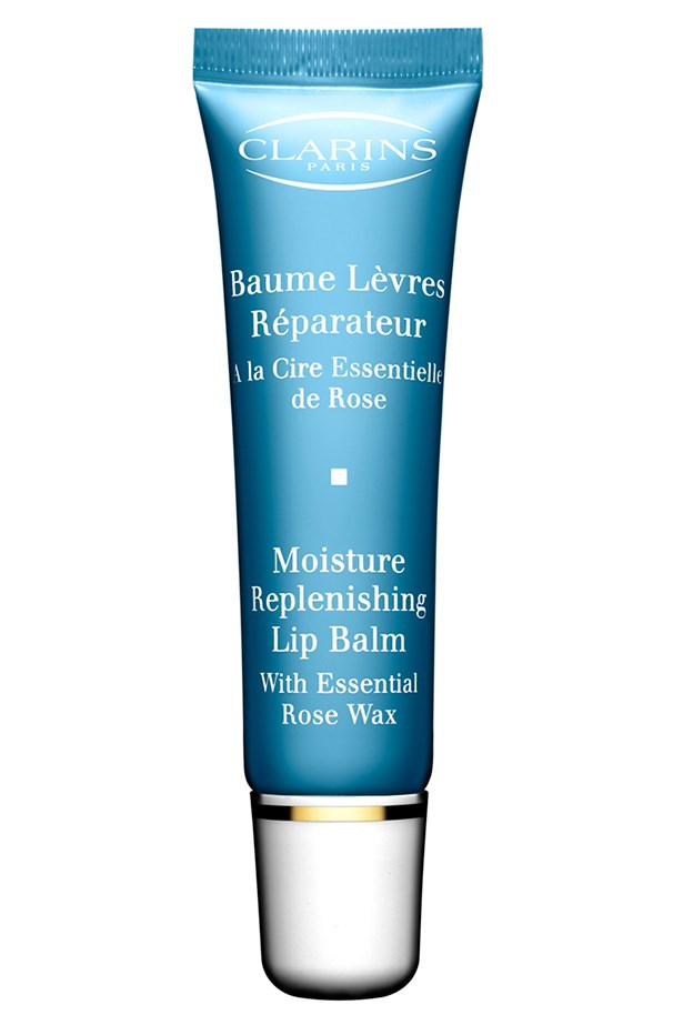 <strong>LONG-LASTING: </strong><em>HydraQuench Moisture Replenishing Lip Balm, $30, Clarins, 02 9663 4277</em> It gives gloss while it softens.