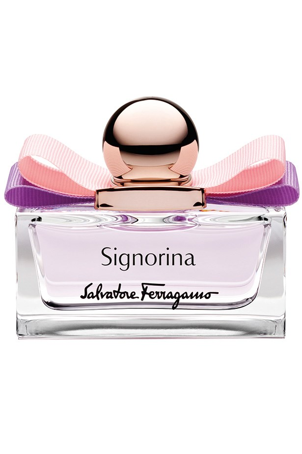 <strong>MADE TO DISPLAY:</strong> <em>Signorina EDT, $140 (100mL), Salvatore Ferragamo, 1300 095 224 </em> A more delicate version of the original Signorina, it's got a grown-up floral feel you'll love. Lychee and grapefruit make it a goodie for the warmer weather too.