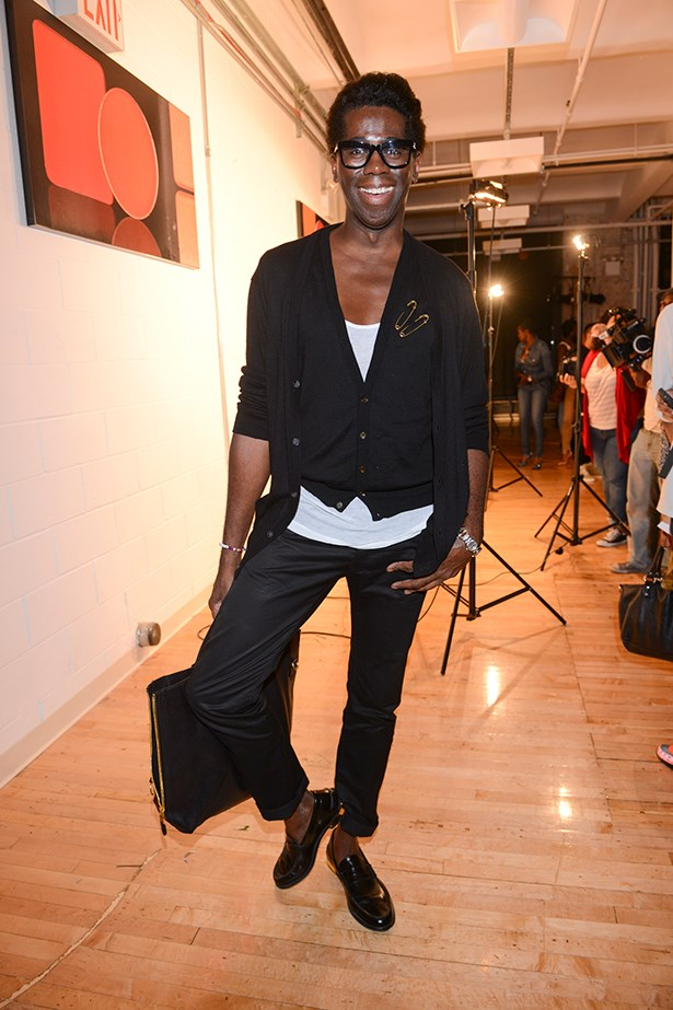 Possibly our favourite TV host Miss J. Alexander attends the Jerome 5:31 fashion show.