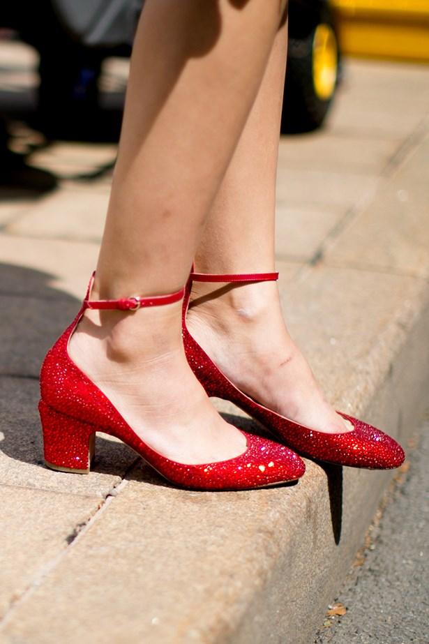 Valentino flats worn at New York fashion week