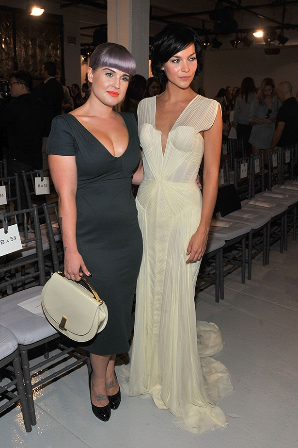 Kelly Osbourne and Leigh Lezark both look ladylike at Zac Posen's runway show.