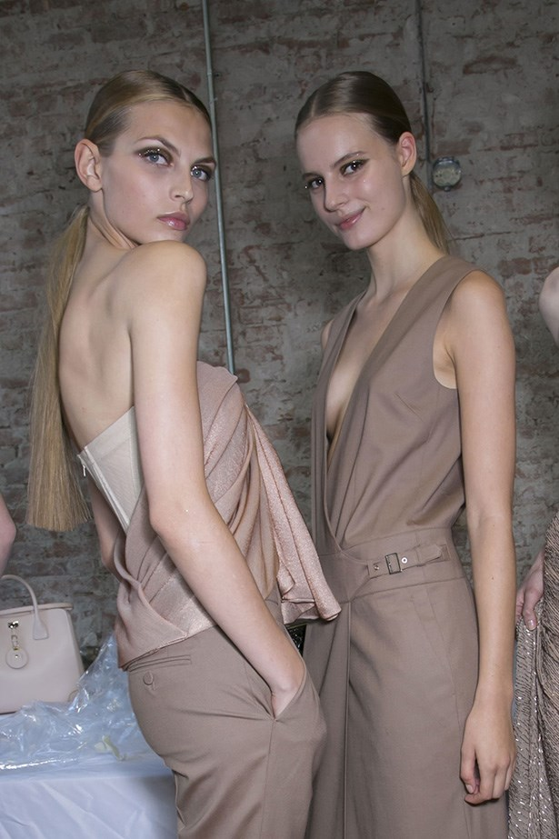 JASON WU: Hair legend Odile Gilbert crafted the slick style with Kérastase Gloss Appeal.