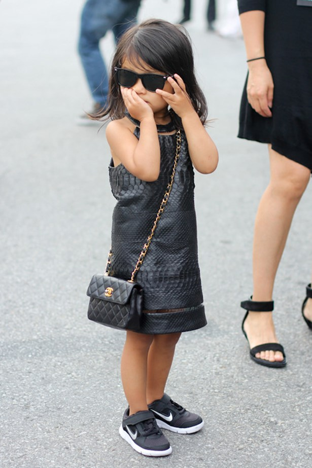 Alexander Wang's mini muse Aila Wang