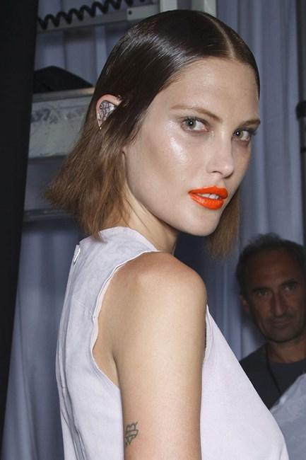 Orange Lips at New York Fashion Week