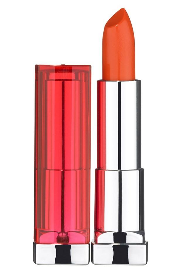 Color Sensational Vivid Lip Color in Electric Orange, $16.95, Maybelline NY, 1300 369 327
