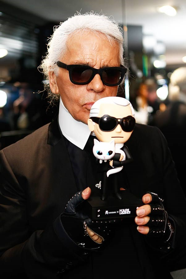 Karl Lagerfeld with doll