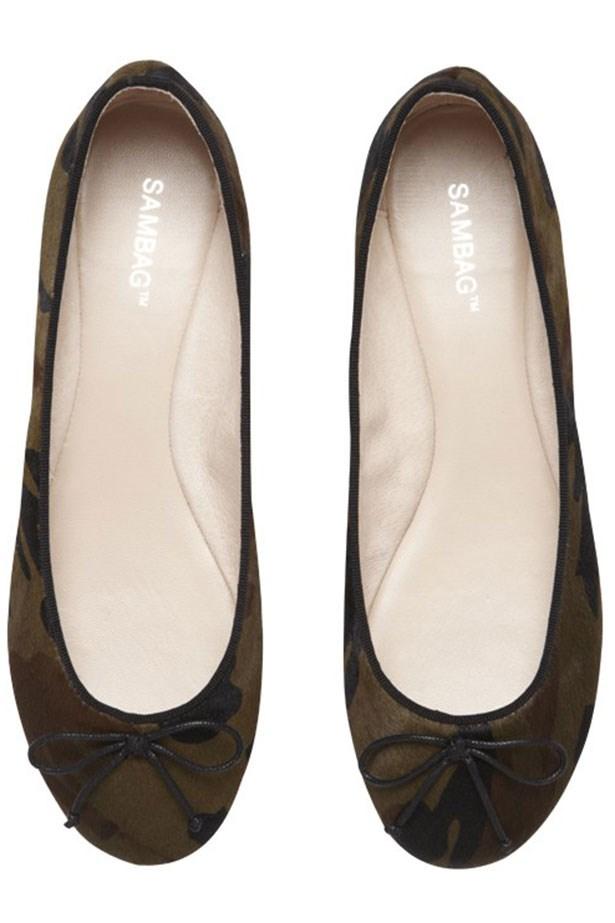 """Flats, $160, Sambag, <a href=""""http://sambag.com.au"""">sambag.com.au</a>"""