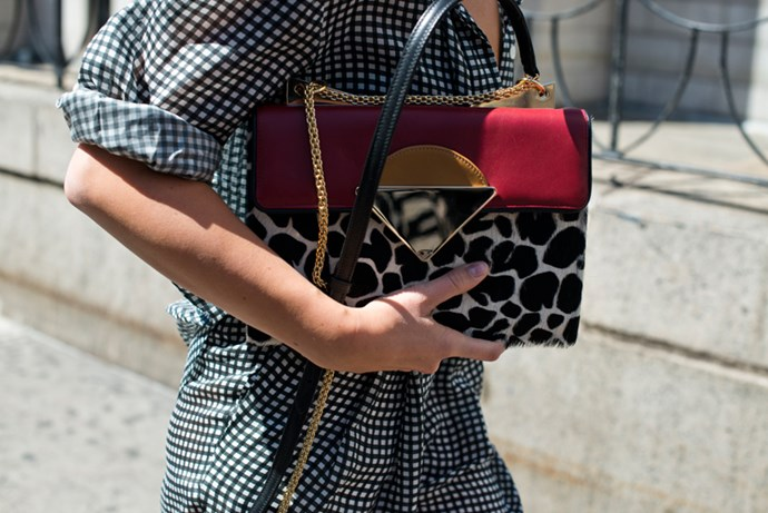 Leopard chain bag