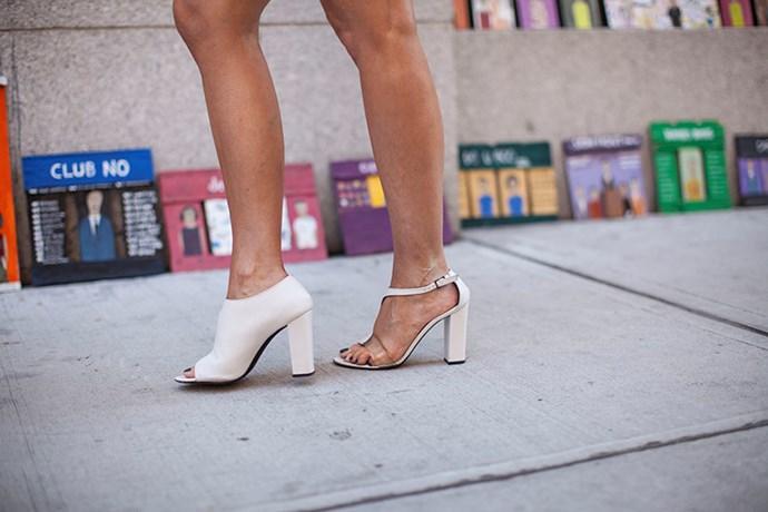 Minimalistic white heels