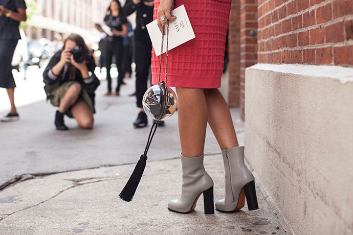 Chanel bag and Céline shoes