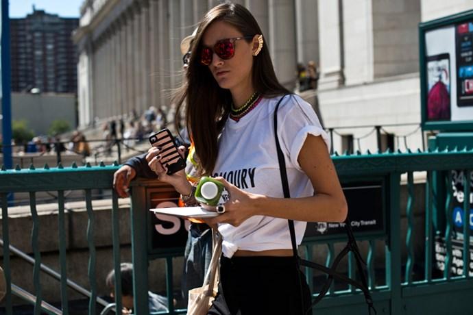 Reflector sunglasses and killer ear cuff