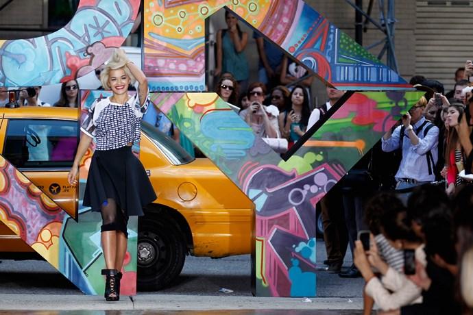Rita Ora dances for DKNY