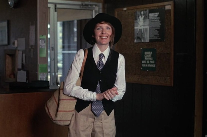 """Annie Hall, <em>Annie Hall</em>: Along with Patti Smith, Annie Hall probably stands as the thinking woman's ultimate fashion icon. When stylists questioned what Diane Keaton was doing with her idiosyncratic character's wardrobe, Allen told them to leave her alone, on the grounds that """"she's a genius"""". He was right, and the three-dimensional fascinating woman Allen and Keaton together crafted is testament to their own creative mastery."""