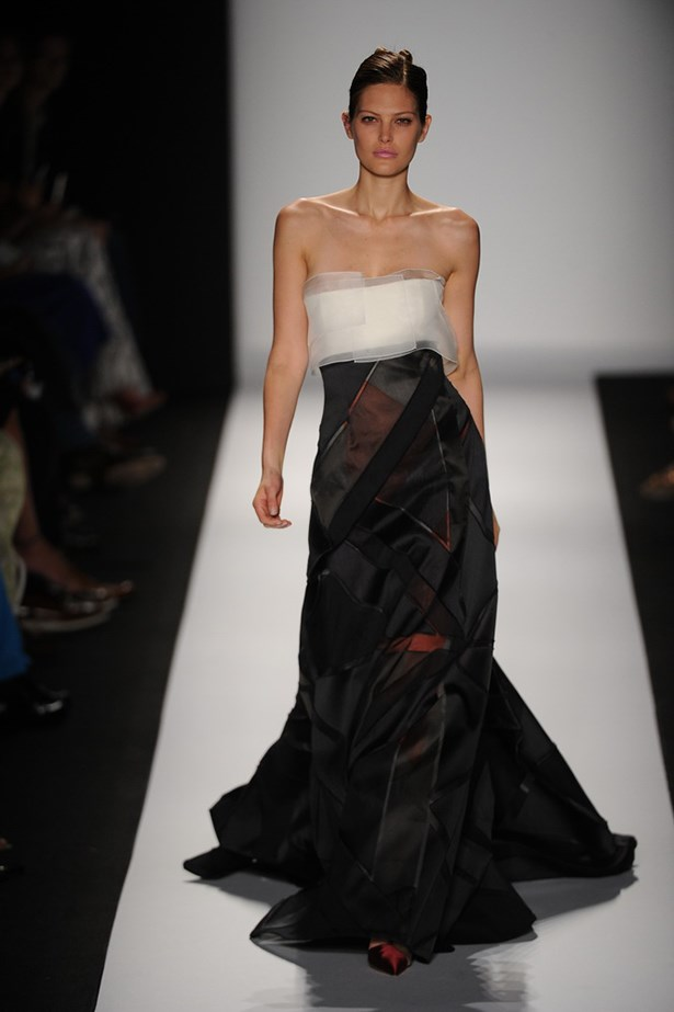 Catherine McNeil at Carolina Herrera.