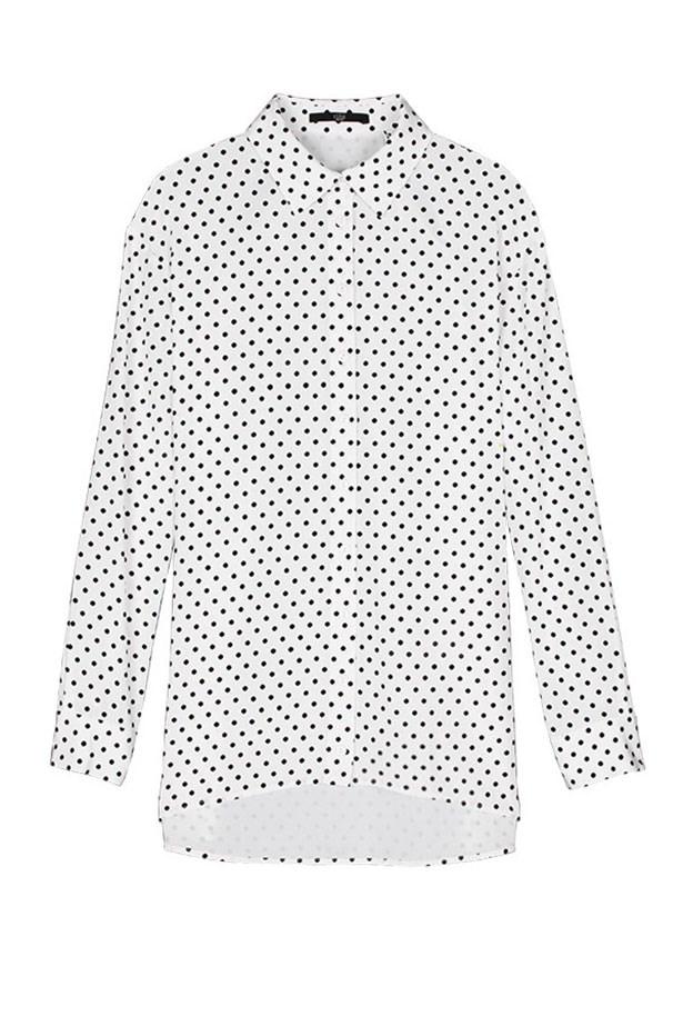 "Silk shirt, Approx. $345, Tibi, <a href=""http://tibi.com"">tibi.com</a>"
