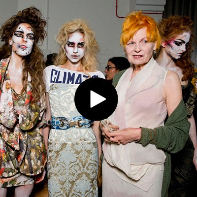 Backstage at Vivienne Westwood