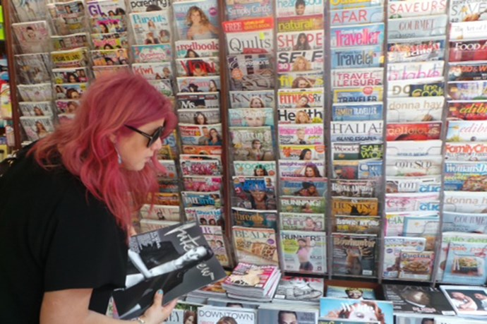 Inspiration overload! Newsagents are stocked with hundreds of magazines, including international and local favourites